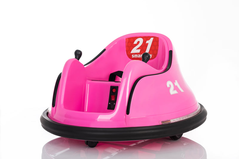 RICCO® 360-Degree Rotation Battery Powered Kids Electric Ride On Waltzer Toy Car (Pink)