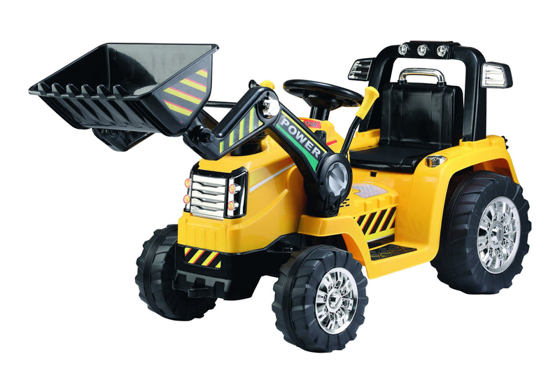 RICCO® Electric Ride On Tractor Excavator with Parental Remote Control Music and Light (Model ZP1005)