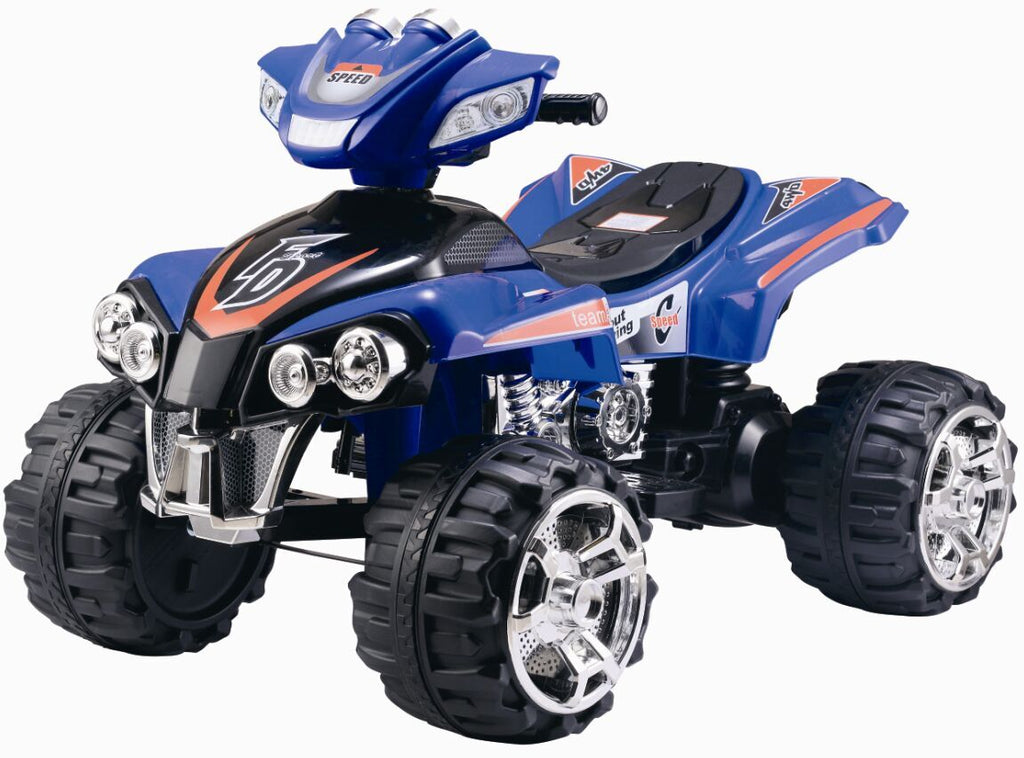 RICCO® Electric Ride On Quad Bike ATV with Music and Light (Model ZP5128) BLUE