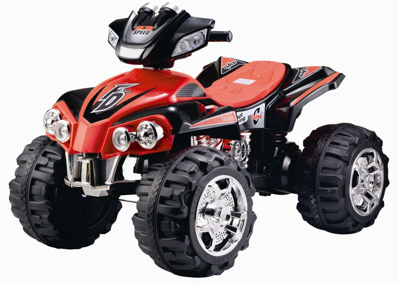RICCO® Electric Ride On Quad Bike ATV with Parental Remote Control Music and Light (Model ZP5128) RED