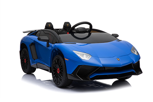 RICCO® 12V 7A Lamborghini Aventador SV Licensed Battery Powered Kids Electric Ride On Toy Car (Model: BDM0913) (Blue)