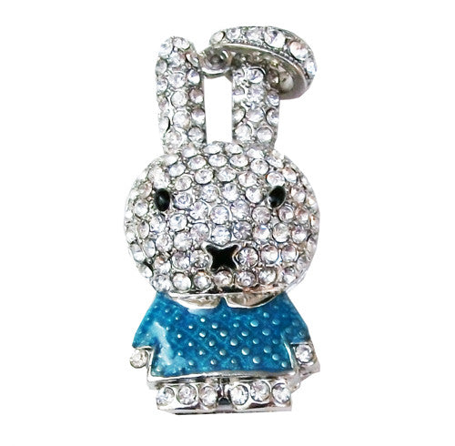 16GB BUNNY Jewellery Swarovski Elements USB 2.0 Flash Drive Memory Stick