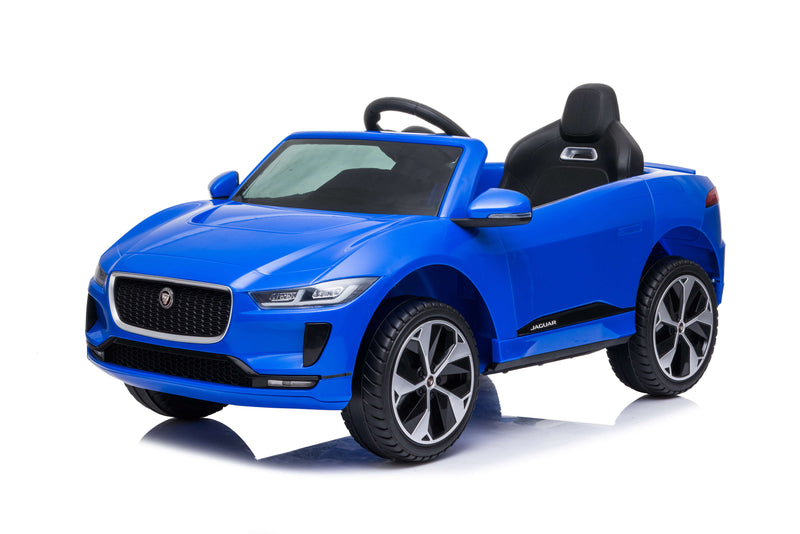 RICCO® Jaguar i-Pace Kids Electric Ride On Car with Remote Control LED Lights and Music (Deep Blue)