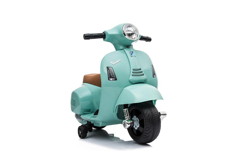 RICCO® Vespa GTS Licensed 6V Ride On Scooter Bike with Training Wheels (Teal)