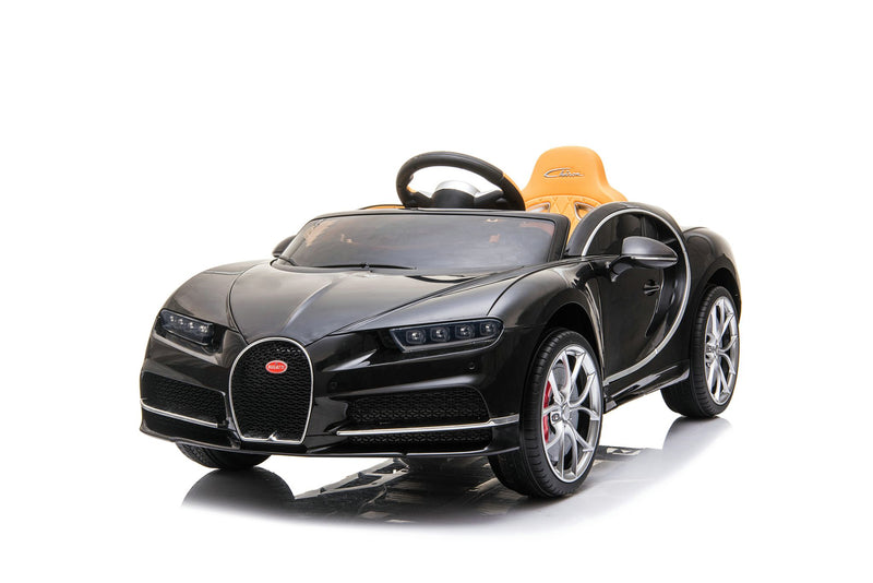RICCO® Bugatti Chiron Licensed 12V 7A Battery Powered Kids Electric Ride On Toy Car (Black)