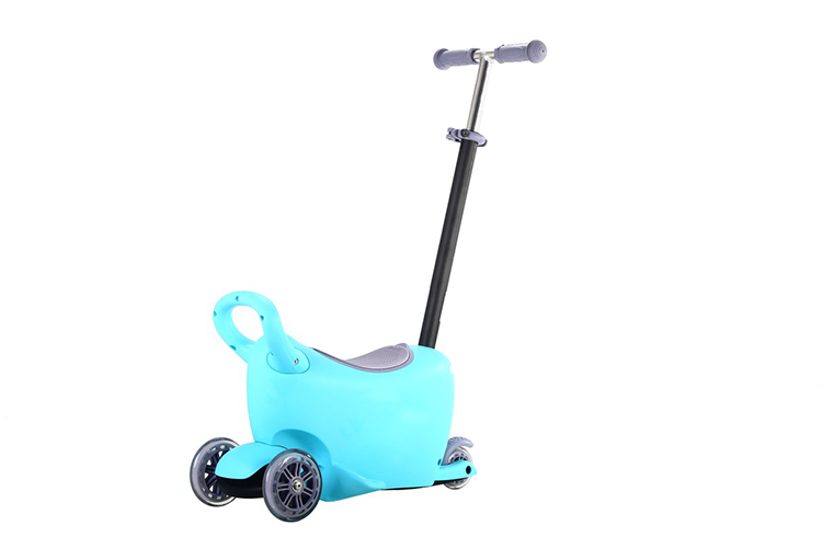 RICCO® 3 in 1 Multifunction Stroller Light-up Scooter Walker and Storage Box Blue & Pink (Model: LB1502) (Blue)