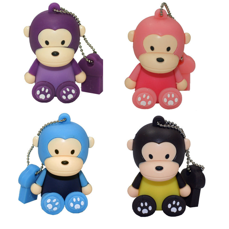8GB Sitting Little Monkey 2.0 High Speed USB Flash Memory