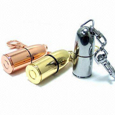 RICCO® 01-084 Aluminum Polished Bullet USB 2.0 Metal Flash Drive Memory Stick - 8GB