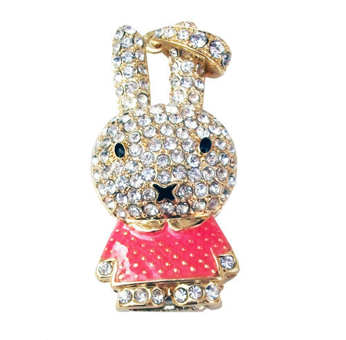 8GB BUNNY Jewellery Swarovski Elements USB 2.0 Flash Drive Memory Stick