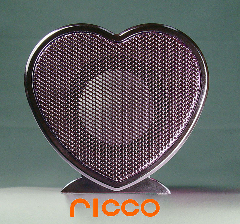 VX HEART SHAPED Aluminium Portable iPod Nano Touch iPhone 3GS 4 30-PIN Docking Speaker Charger