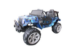 RICCO® SR605 Kids 4X4 Electric Ride On Car with Remote Control LED Lights and Music (Navy Camo)