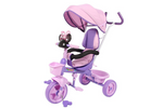 RICCO® Kids Cartoon Easy Steer Pedal Tricycle Buggy Stroller with Oxford Cloth (Model: XG9259) (Purple)