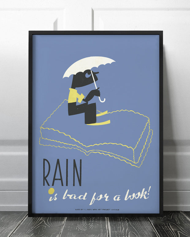 Rain is bad for a book!
