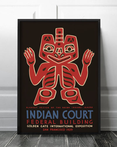 Blanket designs of the Haida Indians, Alaska