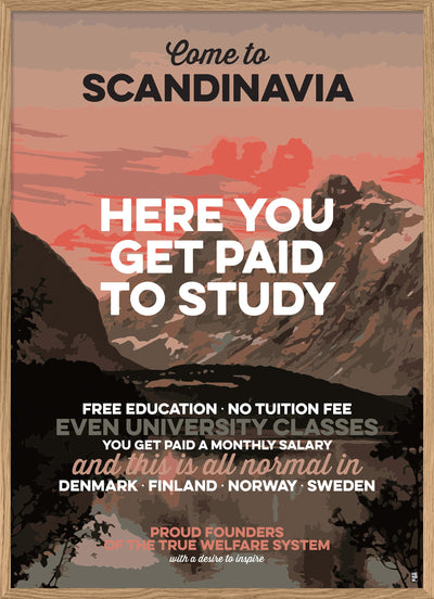 Here you get paid to study