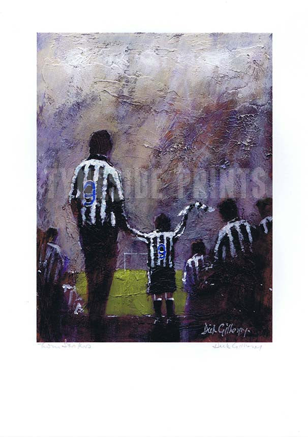 Twin Strikers | Newcastle United Print | Tyneside Prints