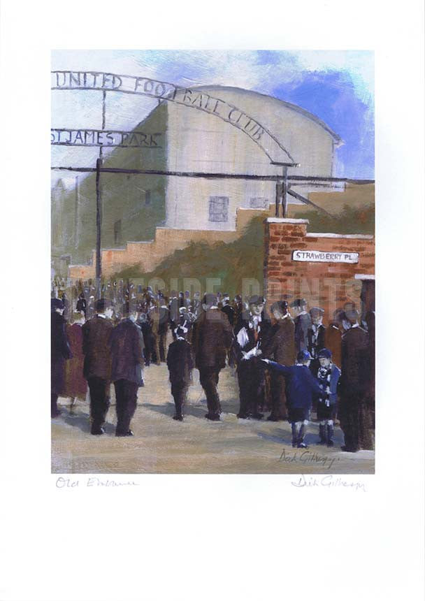 Old Entrance | Newcastle United Print | Tyneside Prints