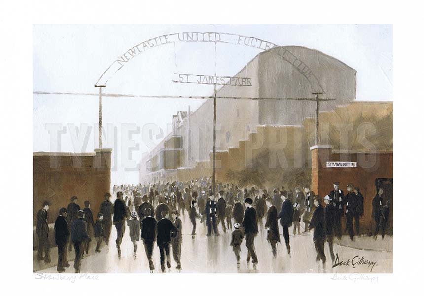 Strawberry Place | Newcastle United Print | Tyneside Prints