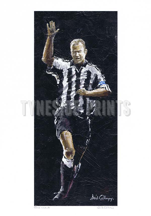 One Nowt  | Alan Shearer Newcastle United | Fine Art Print