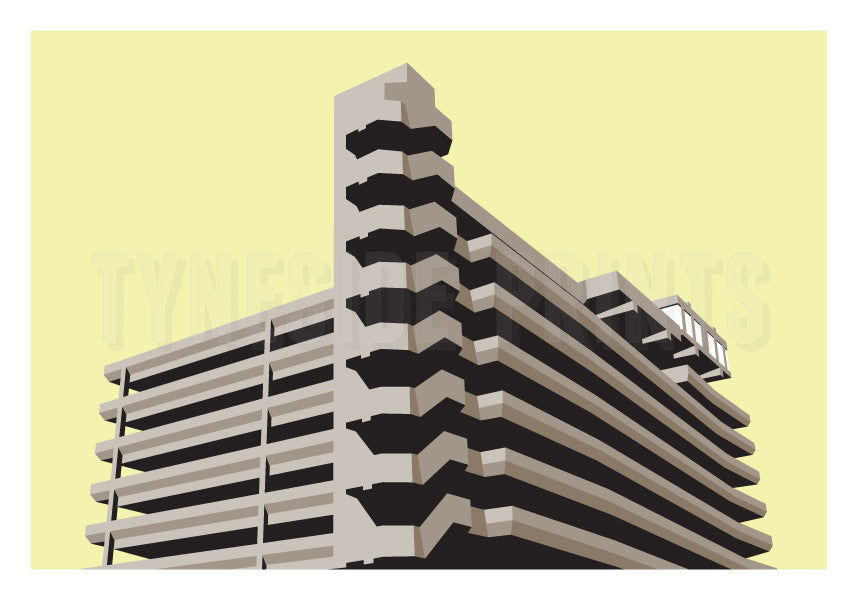 Trinity Square Car Park - Gateshead | Art Print