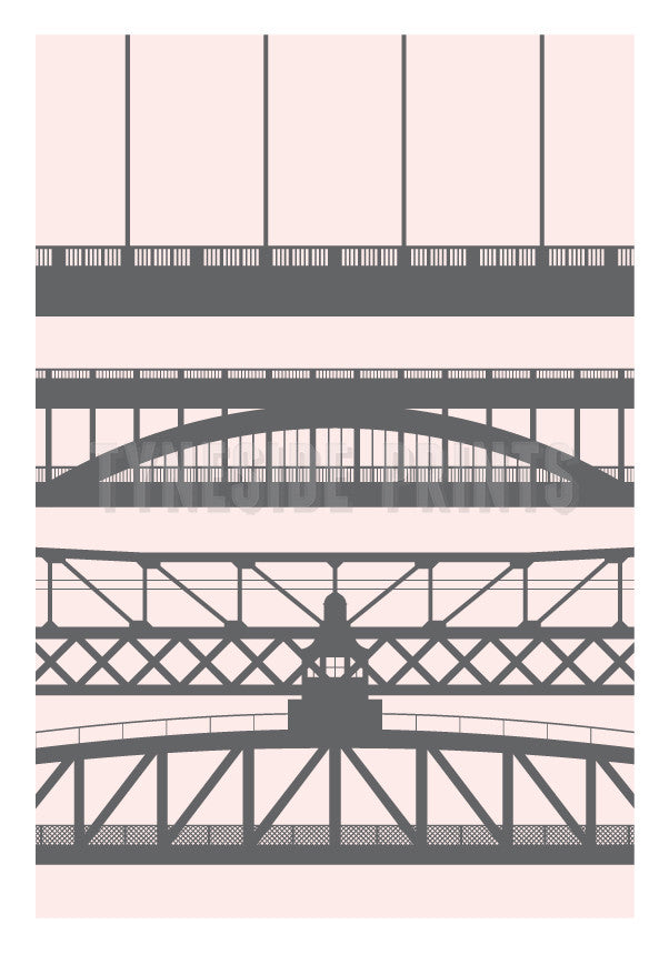 Tyneside Bridges | Art Print