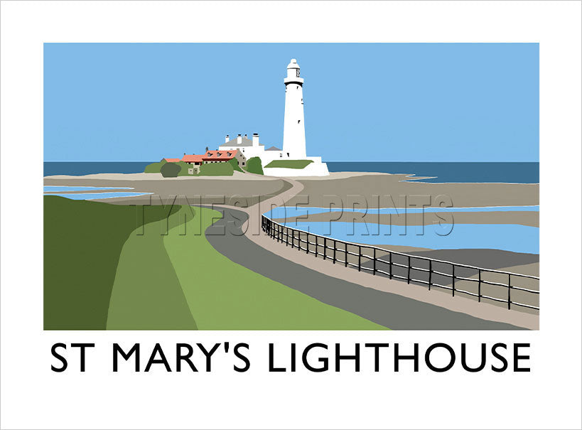 St. Mary's Lighthouse Whitley Bay Art Print