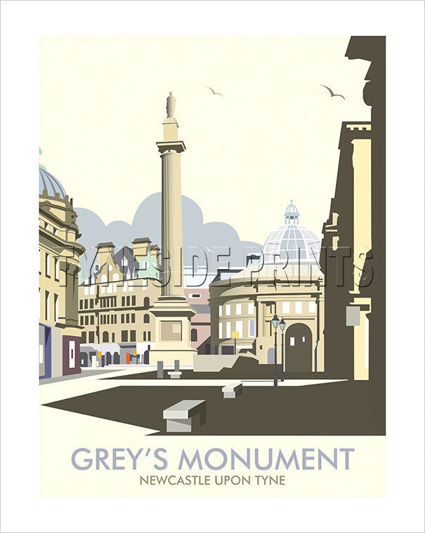 Grey's Monument - Newcastle - Art Print