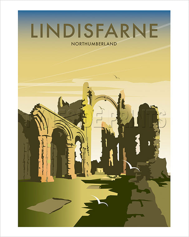 Lindisfarne Priory - Holy Island - Art Print