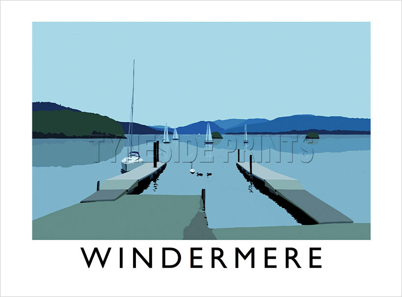 Windermere - Lake District - Art Print