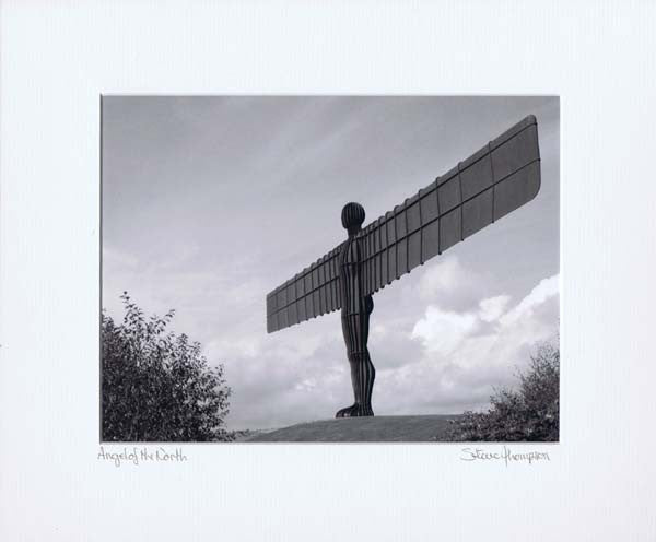 Angel Of The North | Black & White Photographic Mounted Print