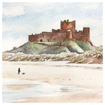 Bamburgh Castle Card