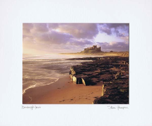 Bamburgh Castle | Northumberland | Colour Photographic Mounted Print | Tyneside Prints