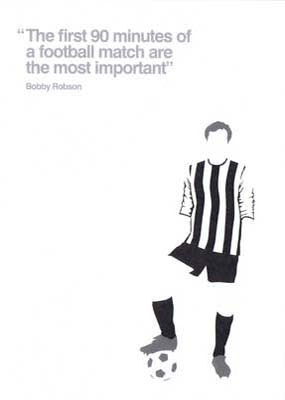 Bobby Robson | Newcastle United Card | Tyneside Prints