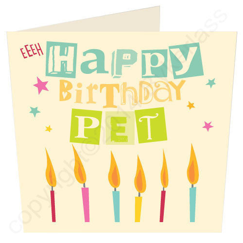 Happy Birthday Pet | Geordie Card | Tyneside Prints