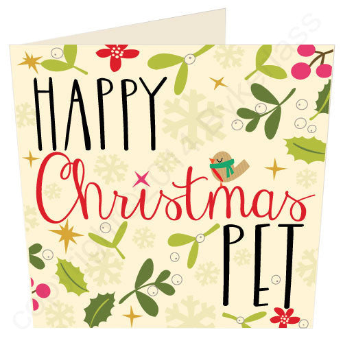 Happy Christmas Pet | Geordie Christmas Card