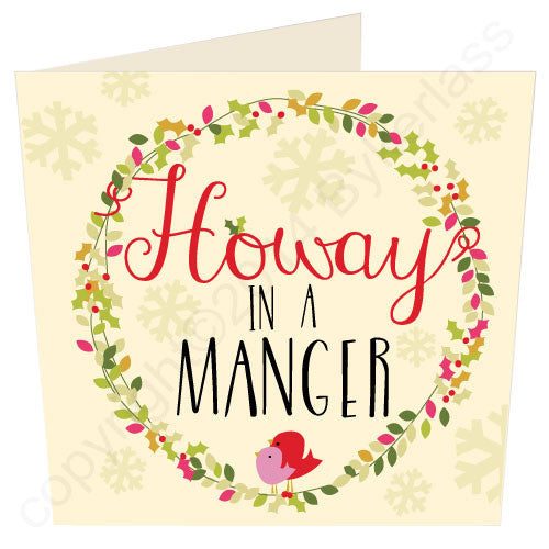 Howay In A Manger | Geordie Christmas Card