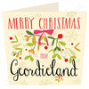 Merry Christmas From Geordieland | Geordie Christmas Card | Tyneside Prints
