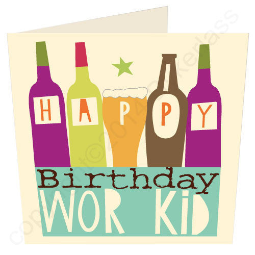 Happy Birthday Wor Kid | Geordie Card