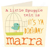 A Little Spuggie Telt Is It's Ya Borthday Marra | Northumbrian Card | Tyneside Prints