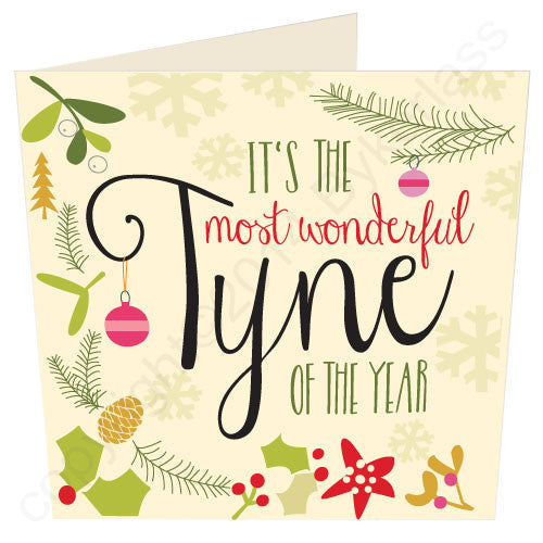 It's The Most Wonderful Tyne Of The Year | Geordie Christmas Card