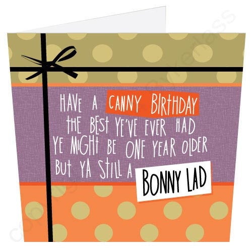 Have A Canny Birthday... Bonny Lad | Geordie Card