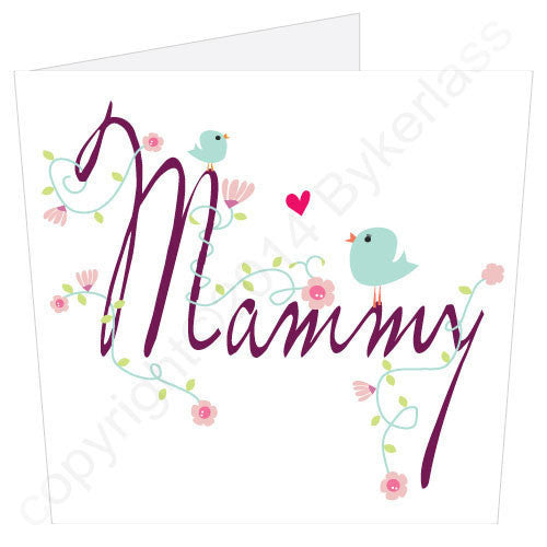 Mammy - Flowers & Birdies | Geordie Card