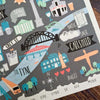 The Fog on the Tyne - Illustrated Map | Geordie Card | Tyneside Prints