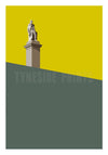 Collingwood Monument Tynemouth Greeting Card | Tyneside Prints
