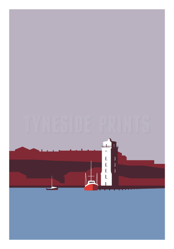 Low Light - North Shields Greeting Card | Tyneside Prints