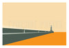 North Pier Lighthouse - Tynemouth Greeting Card | Tyneside Print