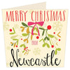 Merry Christmas From Newcastle | Geordie Christmas Card | Tyneside Prints
