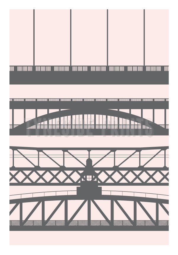 Tyneside Bridges | Greeting Card