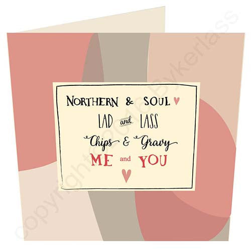 Me and You - Northern & Soul Geordie Card | Tyneside Prints