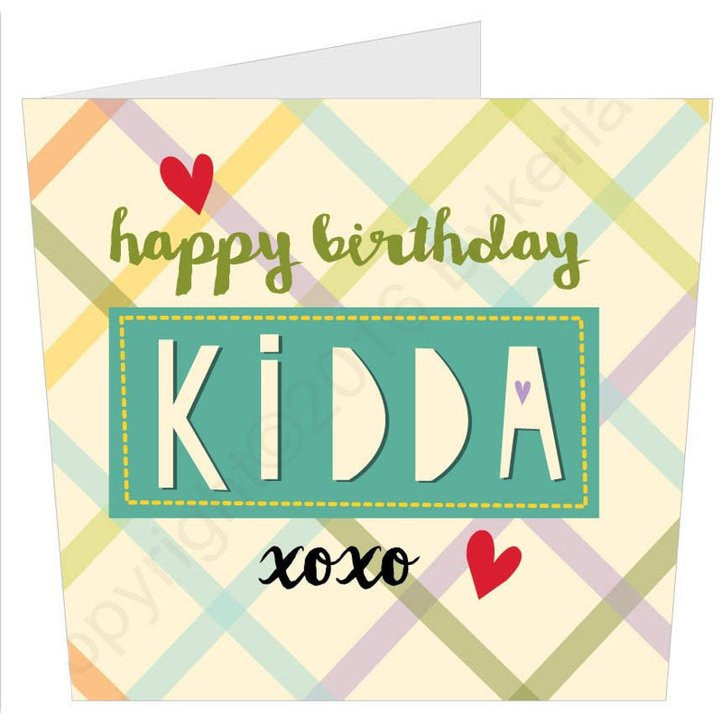 Happy Birthday Kidda | Geordie Card | Tyneside Prints